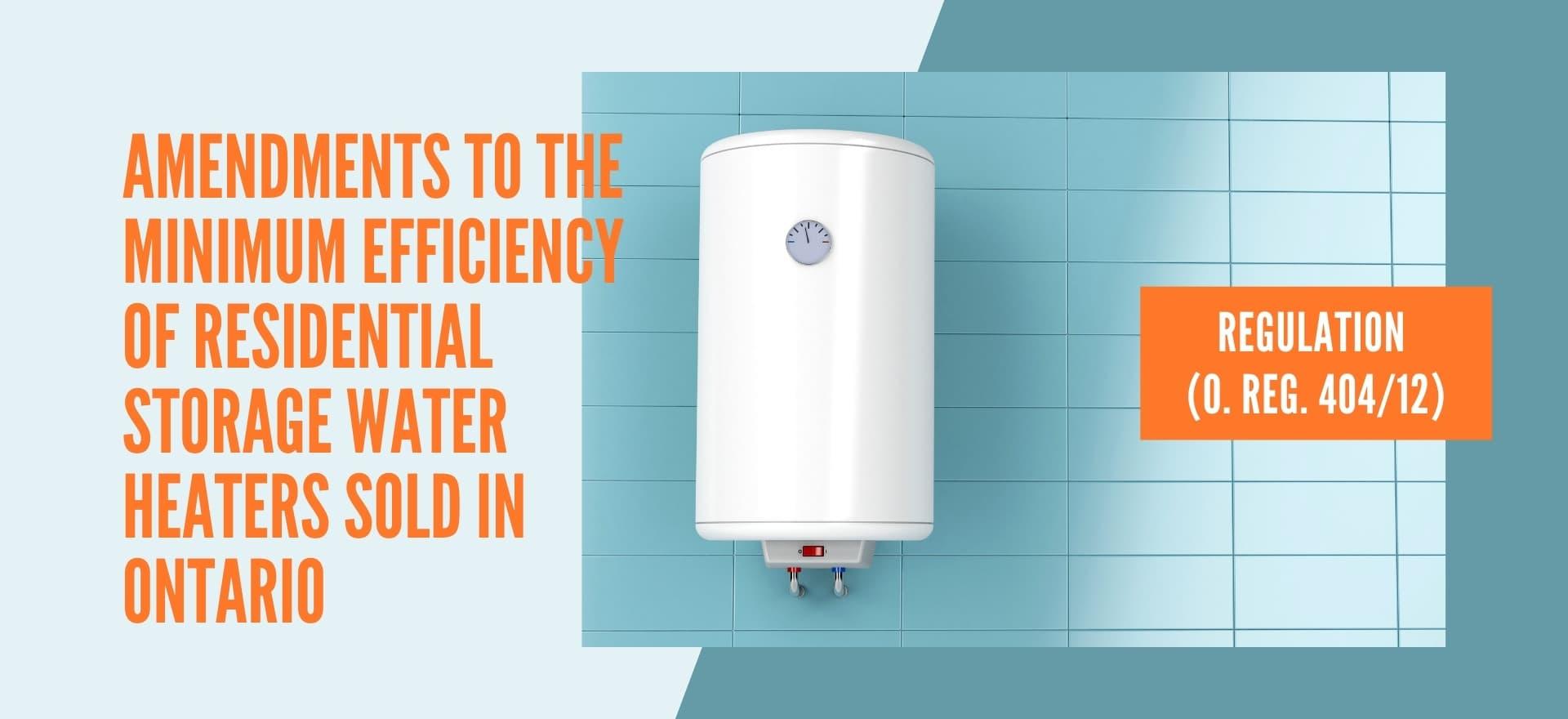 Residential Storage Water Heaters