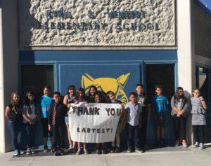 Enfants remercier LabTest Certification