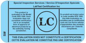 Inspecções especiais para CSA SPE 1000 para o Canadá