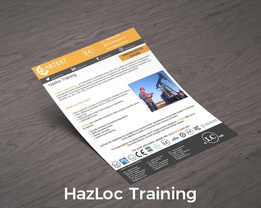 Projektowanie makiet szkoleniowych Hazloc dla broszur
