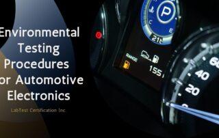 Procedimientos de prueba ambiental para electrónica automotriz