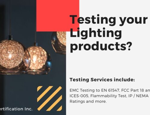 Need testing your Lighting products?