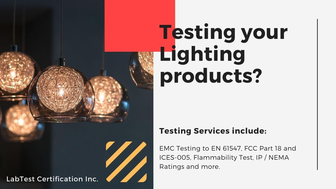 Testowanie produktów oświetleniowych