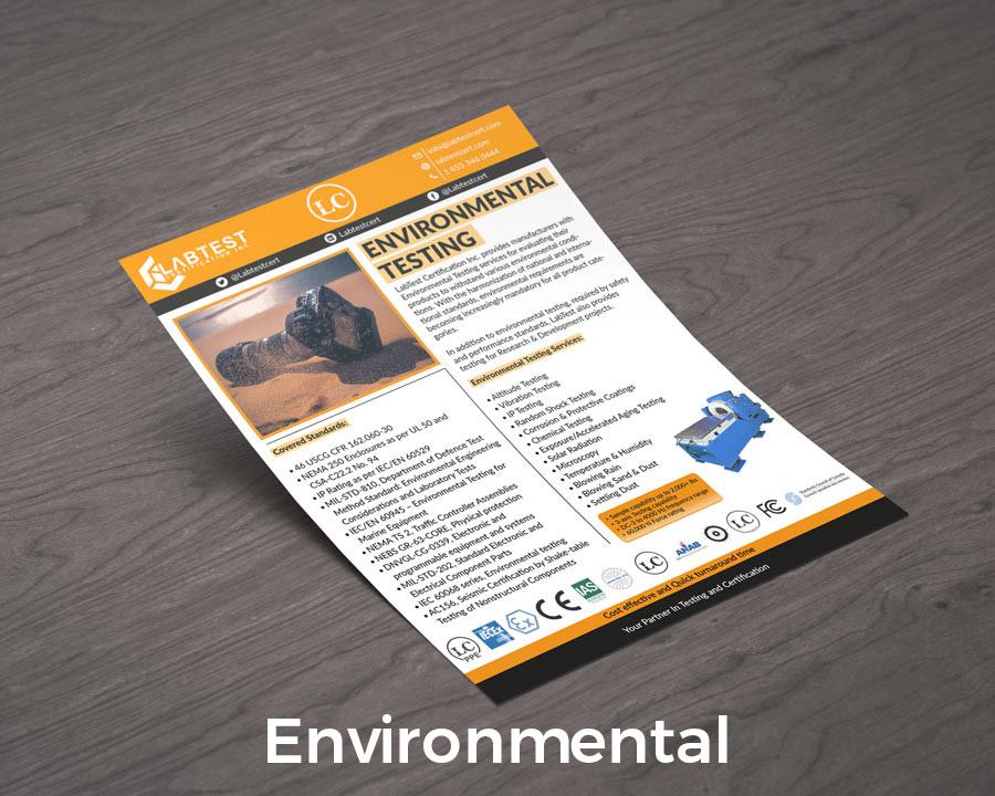 Makiety testów środowiskowych Projektowanie broszur
