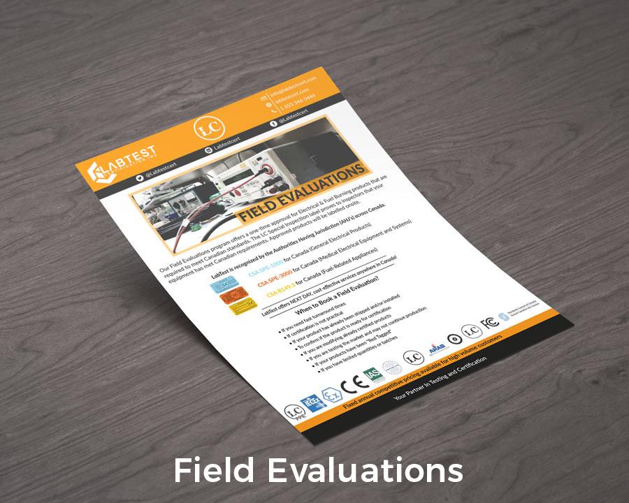 Diseño de maqueta de evaluaciones de campo